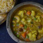 sabji diye bengali bhaja muger dal recipe